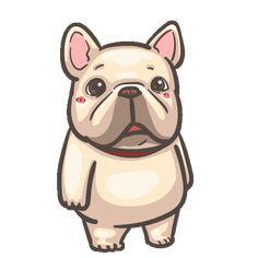 French Bulldog PIGU-Sticker VIII Cute Cartoon Characters, Cartoon Gifs, Cartoon Drawings, Bulldog Gif, Funny Bulldog, Cartoon Stickers, Cute Stickers, French Bulldog Cartoon, Animated Emoticons