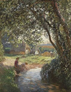 Sir George Clausen  The Little Pool