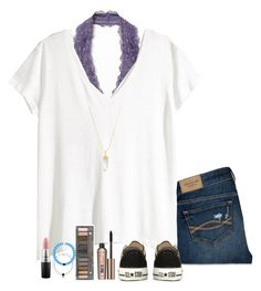 school outfit ✌ by lilypackard on Polyvore featuring H&M, Abercrombie & Fitch, Free People, Converse, American Coin Treasures, Benefit, MAC Cosmetics and Urban Decay