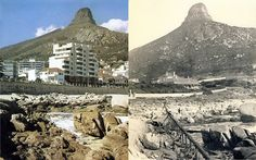 Saunders Rock 1900 and 1980 - Cape Town photos / South Africa Old Pictures, Old Photos, Vintage Photos, Botany Bay, Cape Town South Africa, Before And After Pictures, Most Beautiful Cities, Mount Rushmore, Mountains