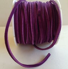 Purple Suede Lace Leather on Etsy, $0.80