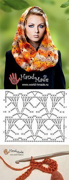22 Super Ideas crochet hat and scarf pattern tutorials Crochet Diy, Poncho Crochet, Crochet Shawls And Wraps, Crochet Motifs, Crochet Diagram, Crochet Stitches Patterns, Crochet Chart, Crochet Gifts, Crochet Scarves