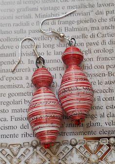 recycled paper earings