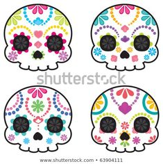 Find Sugar Skull Day Death Cool Vector stock images in HD and millions of other royalty-free stock photos, illustrations and vectors in the Shutterstock collection. Thousands of new, high-quality pictures added every day. Halloween Cookies, Halloween Crafts, Halloween Decorations, Halloween Party, Halloween Designs, Halloween Ornaments, Halloween Stuff, Halloween Makeup, Halloween Costumes