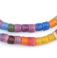 Carnival Medley Sandcast Cylinder Beads