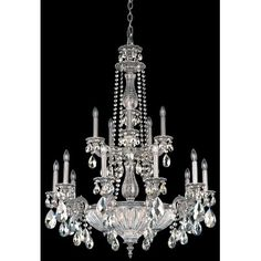 Schonbek Milano 19 Light Crystal Chandelier Finish: Roman Silver, Crystal Color: Strass Golden Shadow