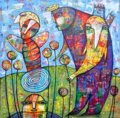 FLOWERS by Dan Casado outsider folk art