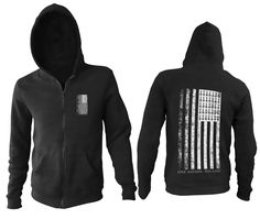 """Men's Cotton Polyester Zip Up Hoodie """"One Nation. No God"""" printed on the back. Metal Shirts, Dark Fashion, First Nations, Shirt Style, Zip Ups, God, Hoodies, Sweaters, Cotton"""