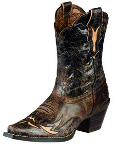 Ariat Women's Dahlia New West Western Shorty Boots, Brown