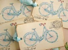 darling bicycle postcards