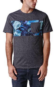 On The Byas Leo Print Mixing Crew T-Shirt #pacsun