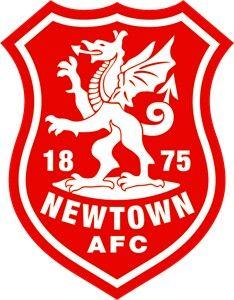 Newtown Afc British Football Team Badge Welsh Football