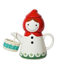 Japanese Teapot Tea Cup Set  - Sun Art Sunart Tea for One - Little Red Riding Hood Teapot - Novelty Teapot