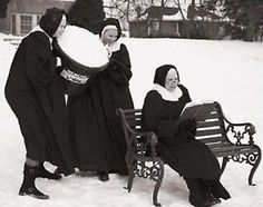 Hehehe nuns have fun too!