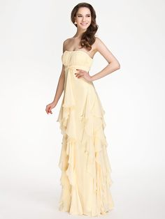 Floor-length Chiffon Bridesmaid Dress - Daffodil Plus Sizes / Petite Sheath/Column Strapless / Sweetheart - USD $ 49.99