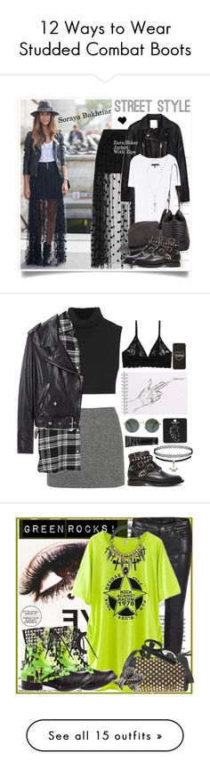 """12 Ways to Wear Studded Combat Boots"" by polyvore-editorial ❤ liked on Polyvore"