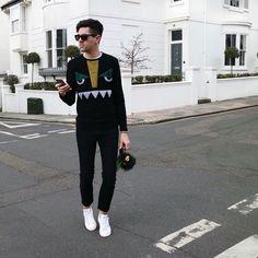 Total Fendi monster menswear street style look. Shot in Brighton.