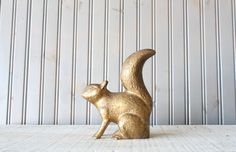 Large Brass Squirrel // Solid Brass by buffalowinter on Etsy, $62.00