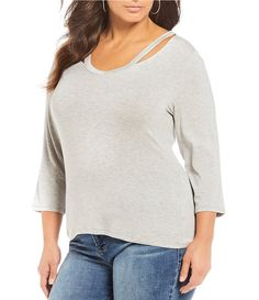 66d6d01e2f7 Rebel Wilson X Angels Plus Size Cut Out Detail Top