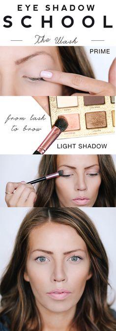 Eyeshadow School: The Wash