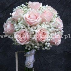 bukiet ślubny z pudrowej róży 1