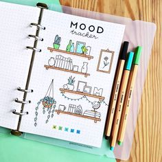 I absolutely loved my August habit tracker and wanted to do something with a similar theme for a mood tracker aswell 😊 • • • • •…