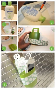 DIY Cell Phone Holder for when you need a charge! #DIY