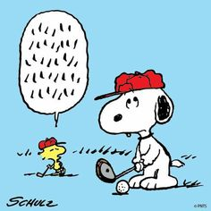 ⛳ Golfing tips from Woodstock for Snoopy ⛳