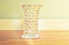 Classic Chic!  American Fostoria Vintage Flared Vase  Clear Crystal by URUDecor, $24.99
