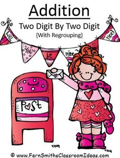 #FREE Valentines Day Two Digit By Two Digit Addition Center #TpT #FernSmithsClassroomIdeas