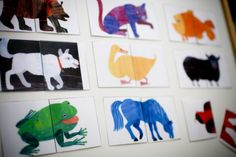 Animal Heads & Tails Matching (good for a magnet board)