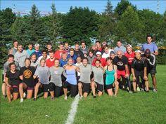 BSI Athletes before morning dryland training, Summer 2014.