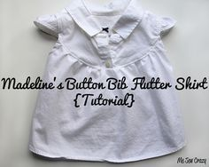 upcycle/refashion tutorial for this super cute button bib flutter shirt