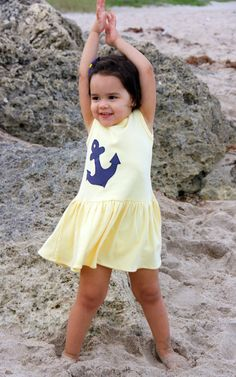 Ahoy Lemon Twirl Dress Spring Girl Baby by Peaceloveandkids, $23.00