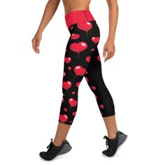 """""""This Black Heartsy Capri is an ideal outfit in achieving your fitness goal this year. The design Vastitch creates is specially made to complement any body types. Show off that bum, be a head-turner, and workout in confidence. Shop more only at Vastitch! You Fitness, Fitness Goals, Feeling Great, How Are You Feeling, Body Types, High Waist, Confidence, Capri, Leggings"""