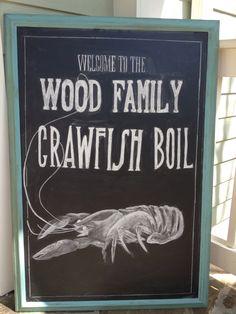 Chalkboard typography - crawfish boil