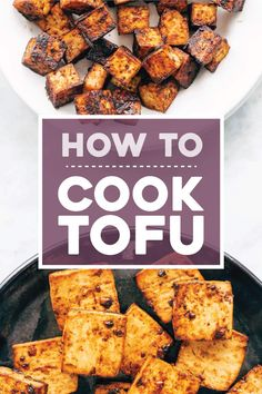 How to Cook Tofu! Our four go-to ways to prepare tofu: baked, sautéed, fried, and scrambled. Perfect for a variety of meals. YUM! #tofu #howto #vegan #vegetarian Firm Tofu Recipes, Healthy Recipes, Cooking Recipes, Cooking With Tofu Tips, Cooking Wine, Recipes With Medium Tofu, Cooking Tofu Easy, Recipes With Tofu Vegan, Asian Tofu Recipes