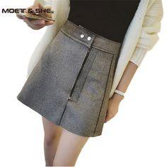 Autumn New Fashion Suede Skirt Women Zipper Solid Tutu Skirts  Retro Style Casual All-Match Skirts Saia Feminina B5O209