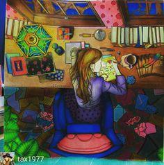 Gorgeous ❤ @tax1977 #coloringbook #dariasong #dariasongcoloringbook…