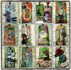 "Tim Holtz 12 Tags of Christmas"" from 2009"
