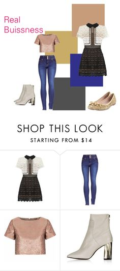 """Real Buissness"" by marthabr on Polyvore featuring self-portrait, 2LUV, Glamorous, Topshop and Kate Spade"