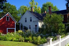 On Elm Street - Woodstock, Vermont Woodstock Vermont, Elm Street, Small Towns, New England, Photo Galleries, Sweet Home, Farmhouse, Cottage, Cabin