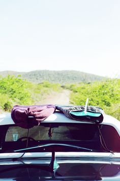 open road and surfboards in tow.