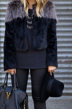 Faux Fur Jacket and Hat from Gal Meets Glam