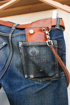 IH-666s-9 | Flickr - Photo Sharing! Heavyweight Denim Championship Iron Heart Heavyweight Raw Denim with Tanner Goods Workman Wallet