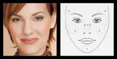 Beauty Tips from Mary Kay: Contouring - Heart Shape. 1: Highlighter. 2.Bronzer. 3. Blush