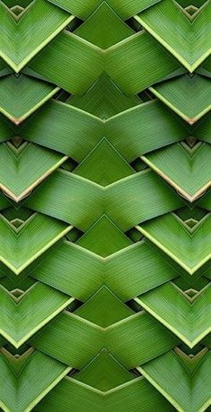 Woven palm fronds add natural element to any green pallette