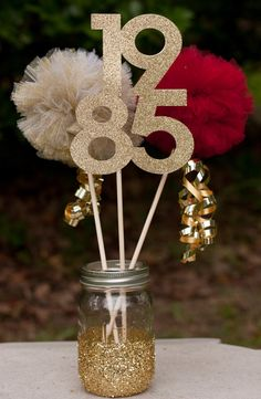 Class Reunion High School Reunion Centerpiece Table Decoration You Choose Colors and Year Más
