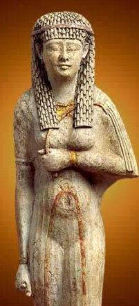in the Temple of Amun at Karnak in Luxor (Ancient Thebes), Egypt, Part II: Statue of a Ptolemaic Queen 304-30  BC
