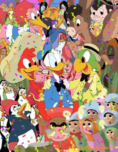 The Three Caballeros collage.